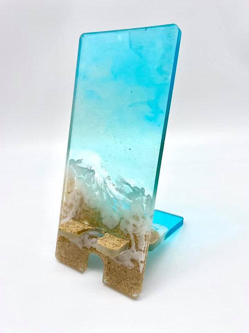 Beach Resin Phone Stand