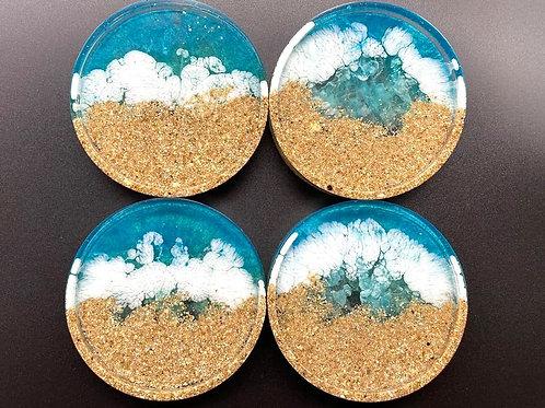 Beach Resin Coasters