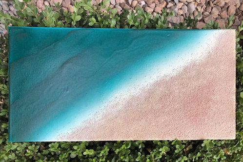 "SOLD!! ""Beach Glimpses #1"" - 10"" x 20"" spray paint on canvas"