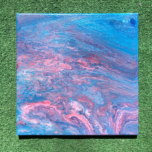 """Sunset Stone"" - 12"" x 12"" acrylic on canvas"
