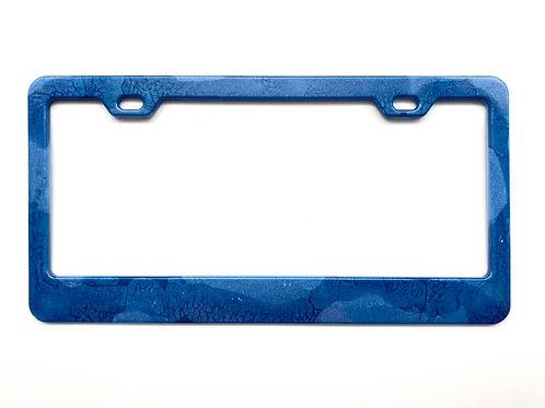 Blue Resin License Plate Frame