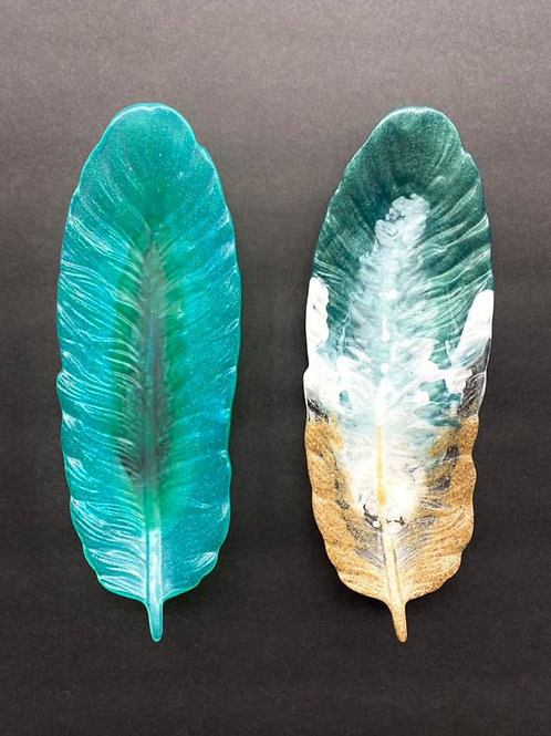 Feather Resin Dish