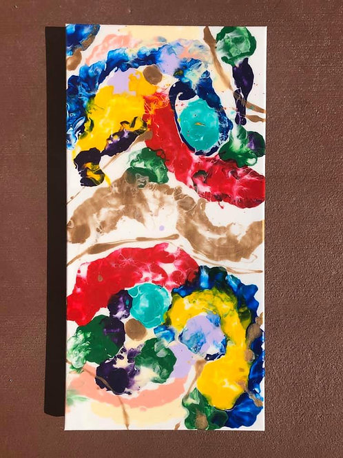 """""""Colorful Abstract"""" - 12"""" x 24"""" acrylic on canvas"""