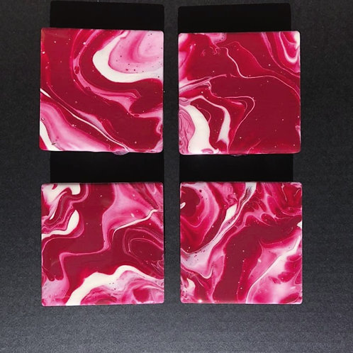 Red & White Coasters