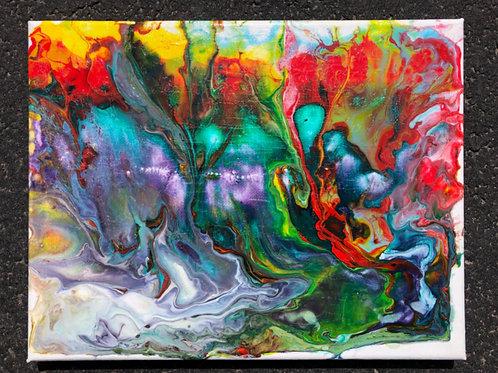 """Lush"" - 8"" x 10"" acrylic on canvas"