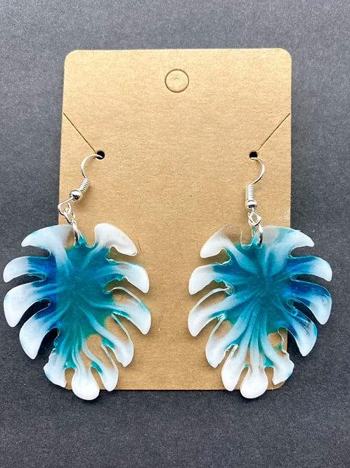 Palm Leaf Resin Earrings