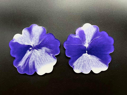 Purple Flower Resin Coaster Set