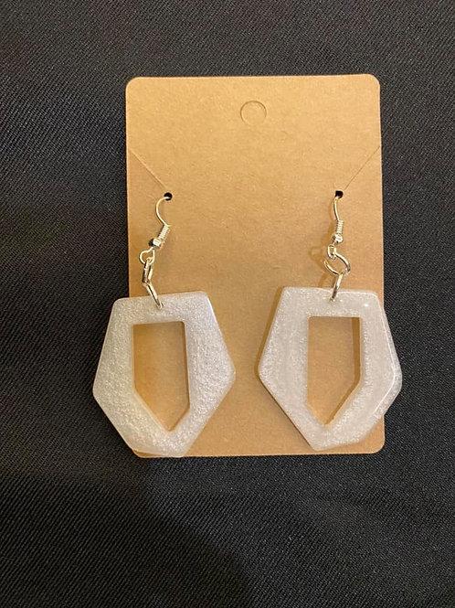 Pearl White Resin Earrings