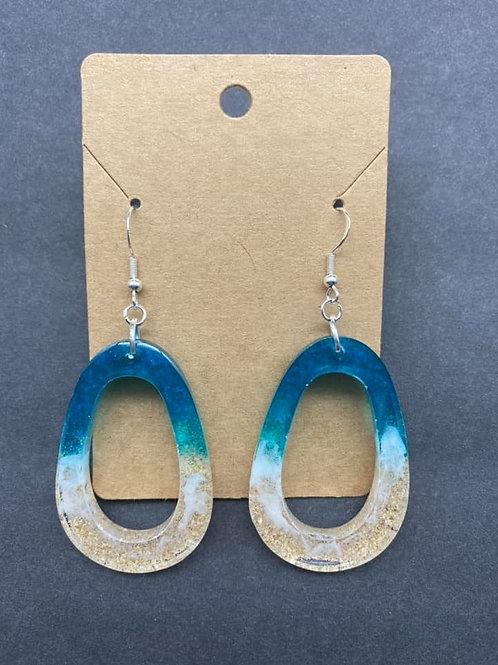 Teardrop Loop Resin Earrings