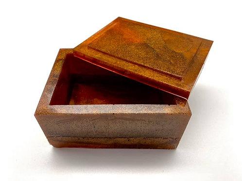 Brown Copper Resin Box