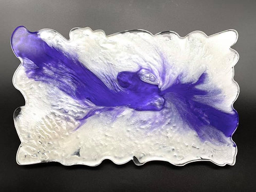 Purple & White Resin Tray