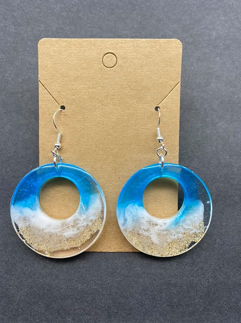 Beach Resin Earrings