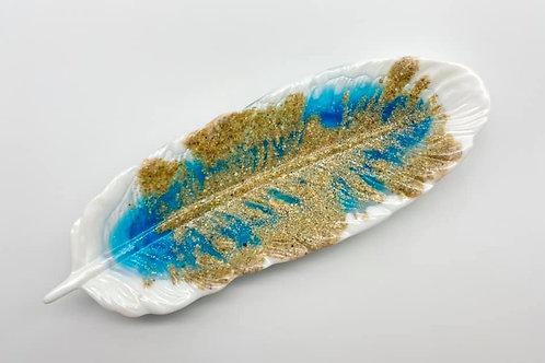 Beach Resin Feather Dish