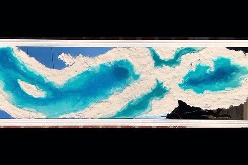 """Frozen Tide Pools"" on a mirror"