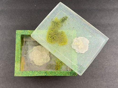 Moss & Flower Resin Box