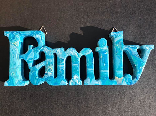 """Family"" - on wood"