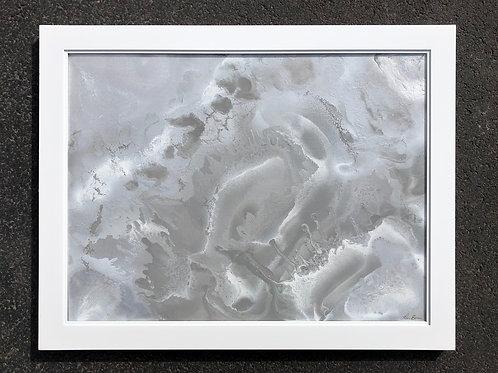 """""""Iced Clay"""" - 18"""" x 24"""" spray paint on canvas"""