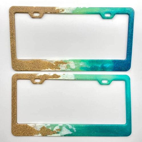 Beach-Style Resin License Plate Frames