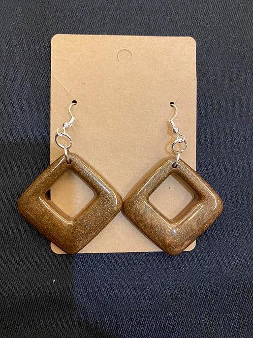 Chocolate Brown Resin Earrings