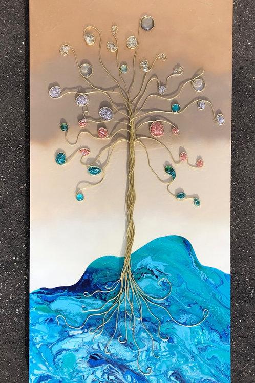 """The Tree of Life"" - 24"" x 48"" spray paint & acrylic on canvas"