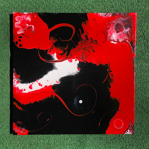 "SOLD!! ""Triple Tango"" - 14"" x 14"" acrylic on canvas"