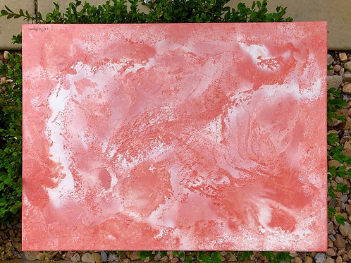 """""""Coral Infusion"""" - 18"""" x 24"""" spray paint on canvas"""