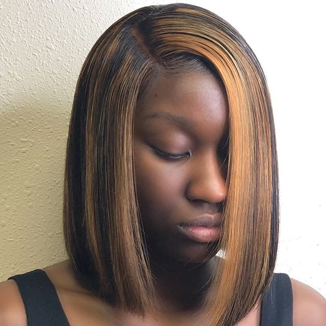 Lace frontal bob custom colored, cut and