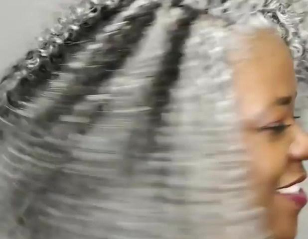 Silver Fox Crochet Braids