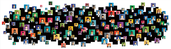 Business people virtual icons (shutterst