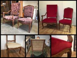Fauteuil et chaise Régence