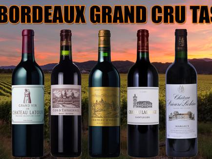1990 Grand Cru Classe Wine Tasting