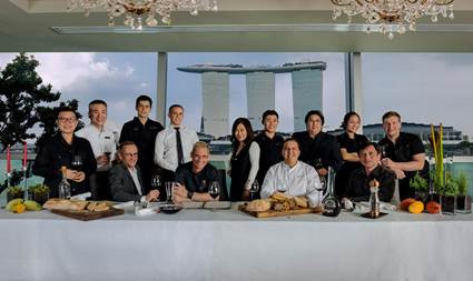 An epicurean dinner organised by Disciples Escoffier Asia in Singapore