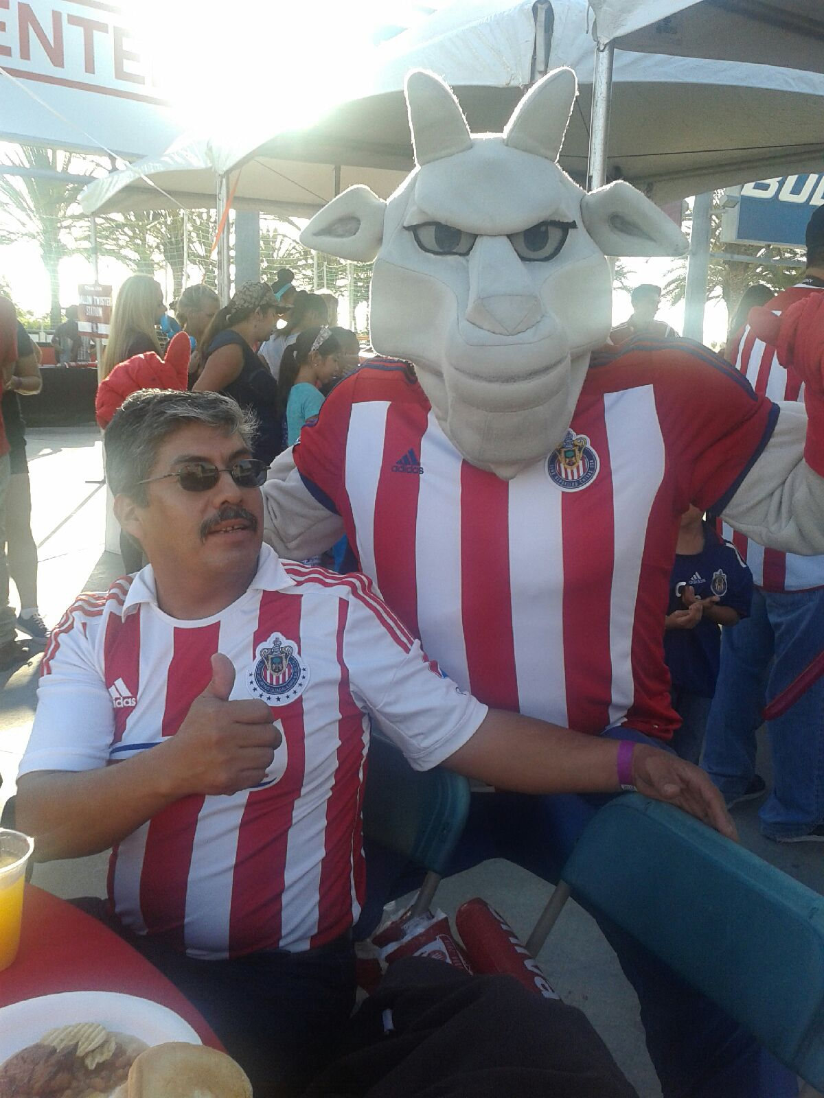 CJSO President with Chivas Mascot