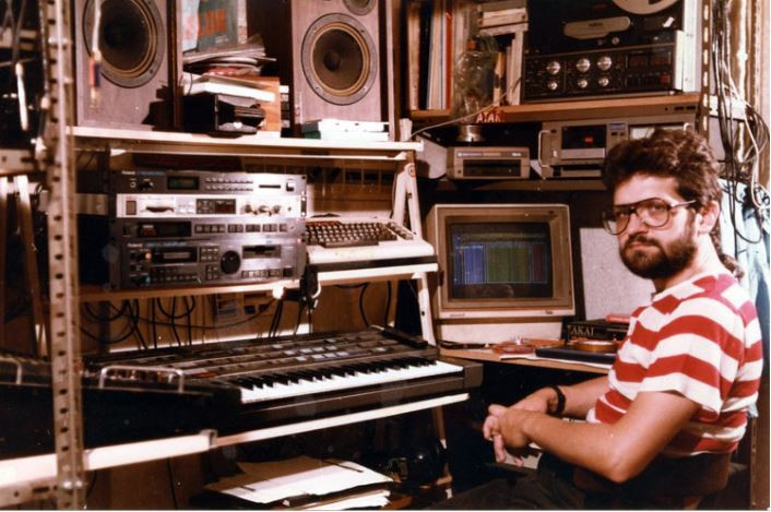 Stefan in the 1980s in his almost-completely self-built studio