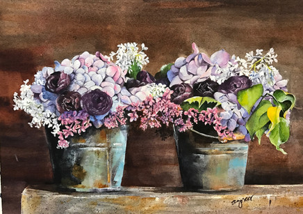 Two Pots of Flowers