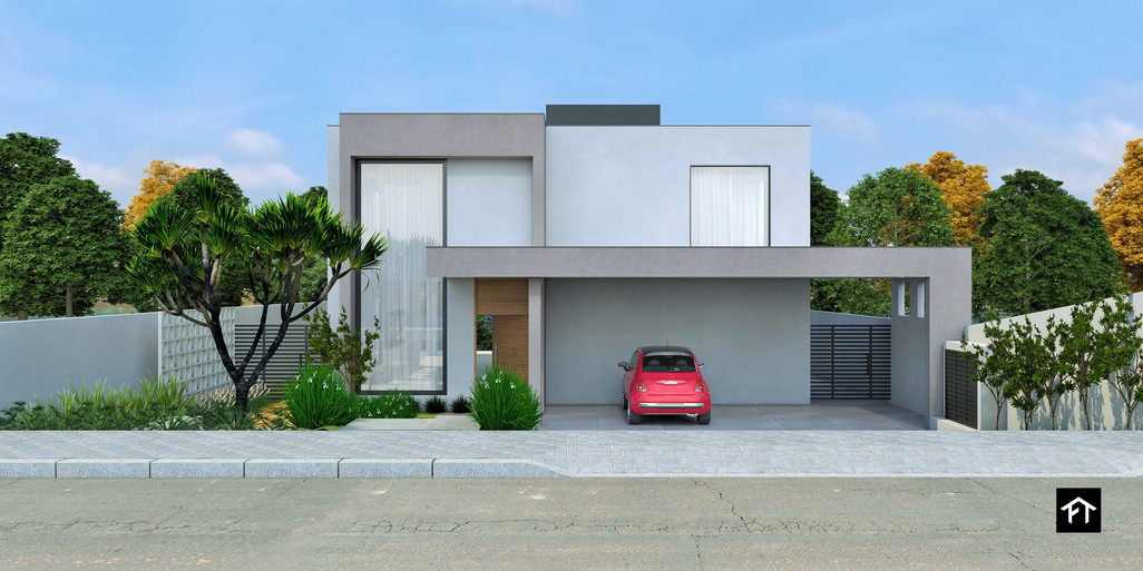 Proposta para fachada da Casa Atibaia