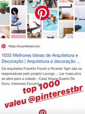 Top 1000 do Pinterest Brasil