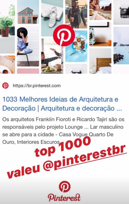 Top 1000 do Pinterest Brasil