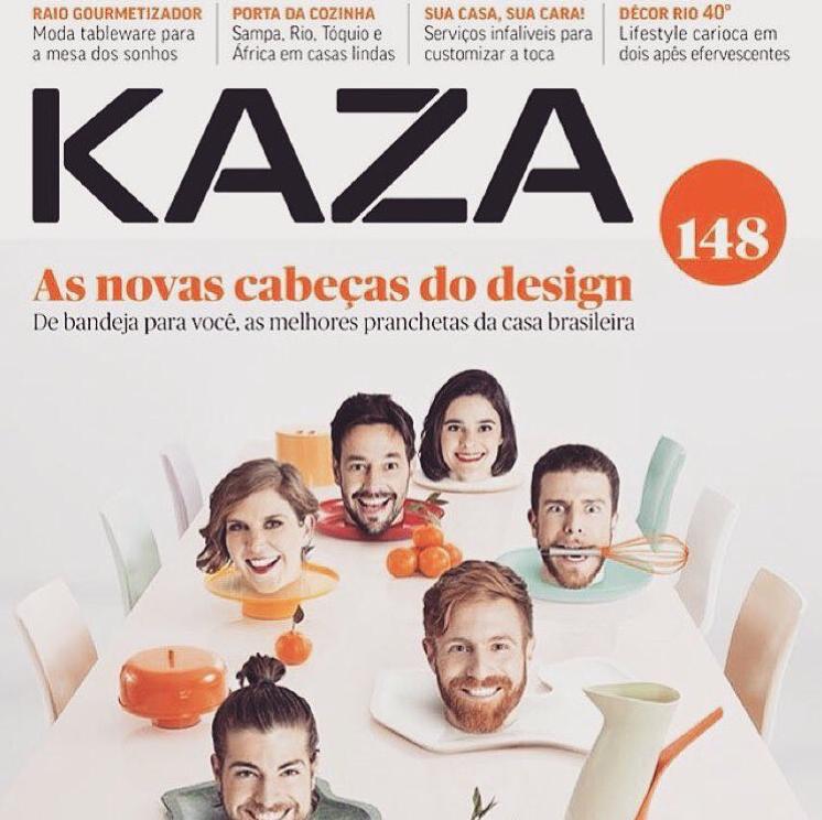 Nosso projeto - Restaurante Japonês - em destaque nesta edição da revista Kaza.