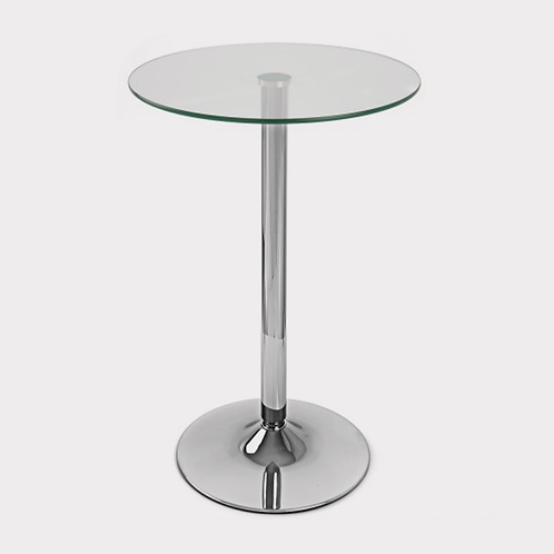 Clear Glass Round Poseur Table