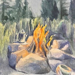 Coffee, campfire, mountains - NFS