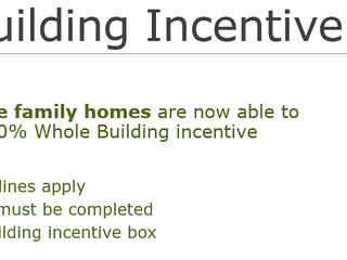 90% Incentive for Renters in Single Family Home