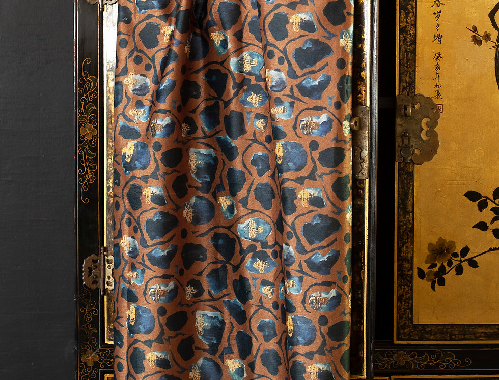 GIRAFFE Tobacco Velvet Fabric