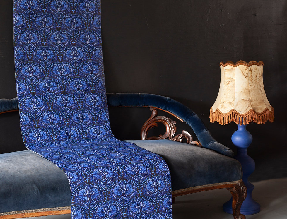 LOULOU Electric Blue Wallpaper