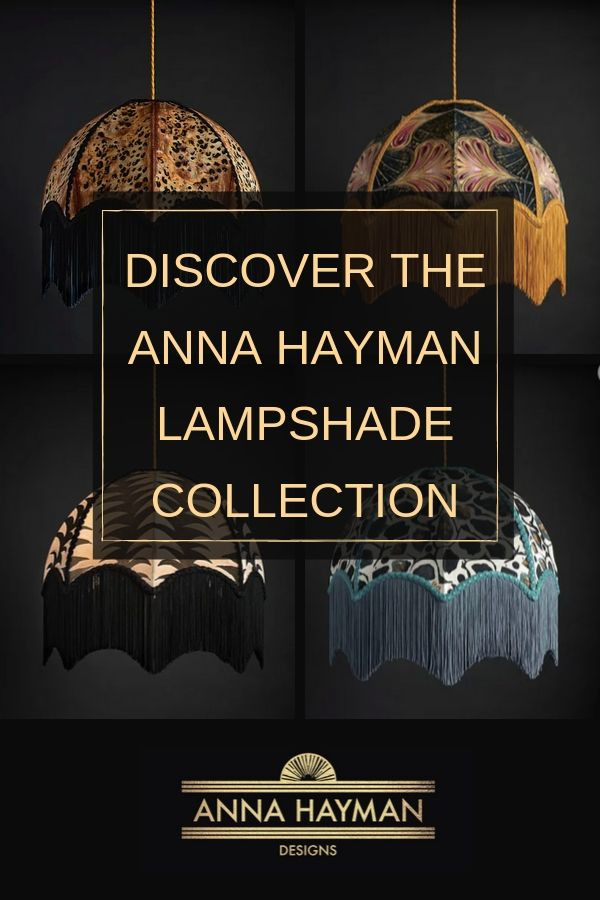 Vintage lampshades by Anna Hayman