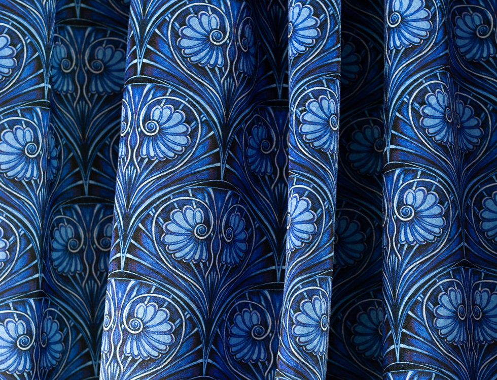 LOULOU Electric Blue Velvet Fabric