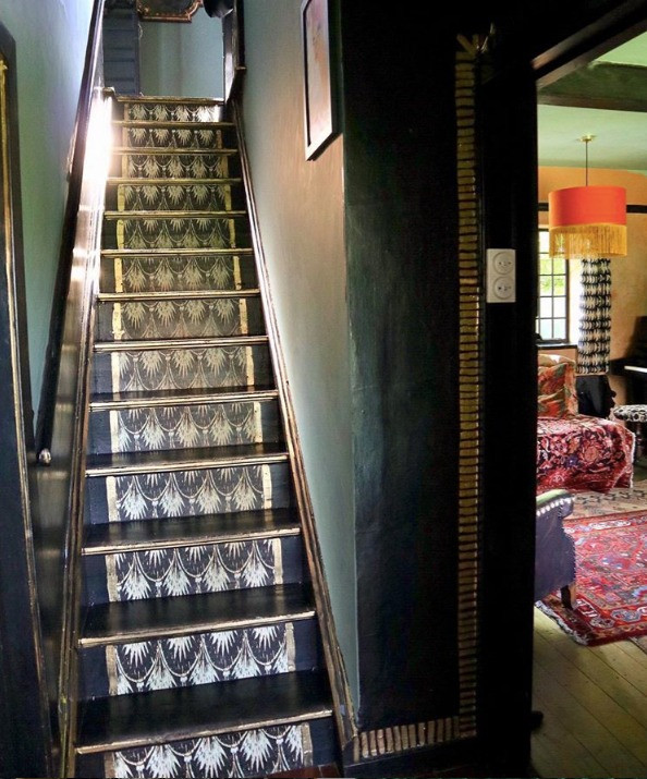 Anna Hayman House wallpaper and stairs