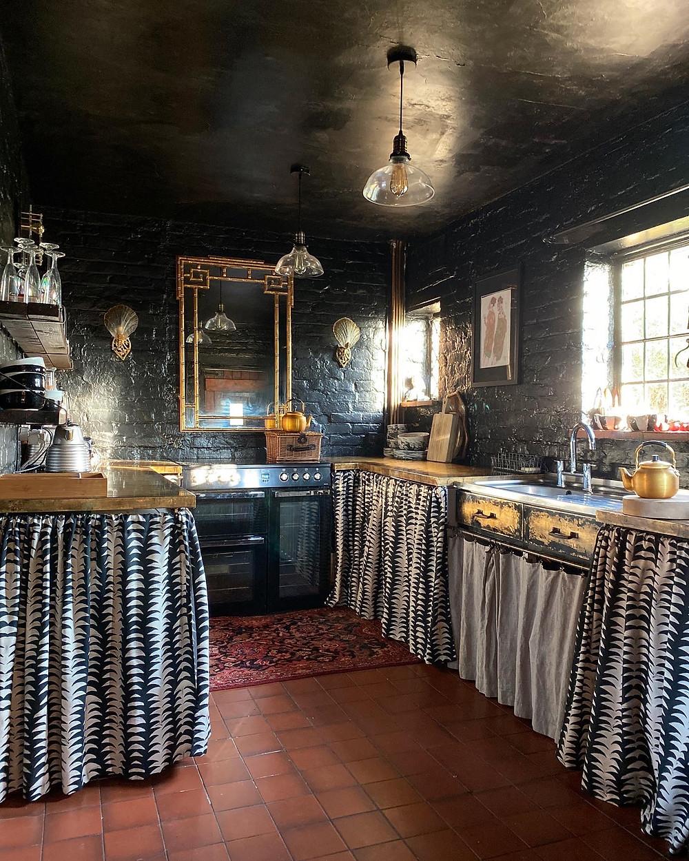 black vintage kitchen anna hayman