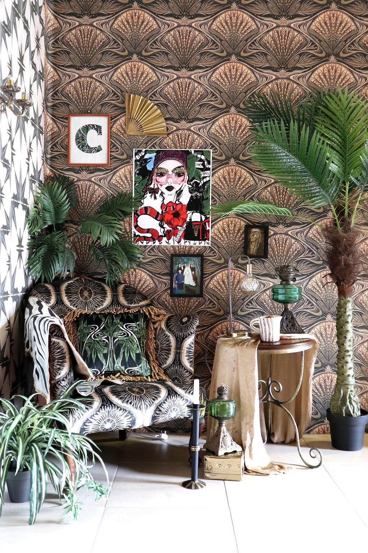 oyster anna hayman maximalist wallpaper layered boho