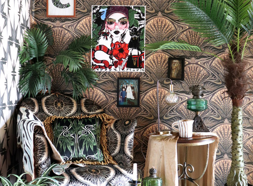 The New Studio - How to style Maximalist Wallpaper